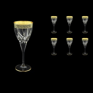 Trix C3 TMGB Wine Glasses 180ml 6pcs in Lilit Golden Black Decor (31-808)