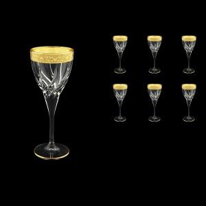 Trix C3 TNGC Wine Glasses 180ml 6pcs in Romance Golden Classic Decor (33-808)