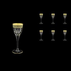 Trix C5 TMGB Liqueur Glasses 70ml 6pcs in Lilit Golden Black Decor (31-807)