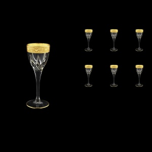 Trix C5 TNGC Liqueur Glasses 70ml 6pcs in Romance Golden Classic Decor (33-807)