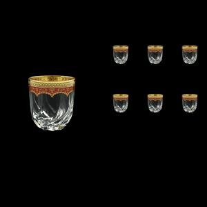 Trix B3 TEGR Whisky Glasses 290ml 6pcs in Flora´s Empire Golden Red Decor (22-565)