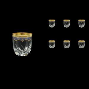 Trix B3 TEGC Whisky Glasses 290ml 6pcs in Flora´s Empire Golden Blue Decor (23-565)
