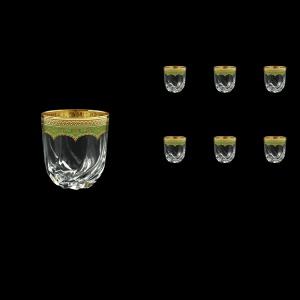 Trix B3 TEGG Whisky Glasses 290ml 6pcs in Flora´s Empire Golden Green Decor (24-565)