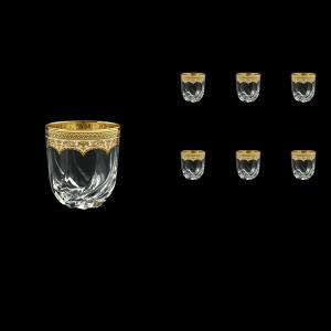 Trix B3 TEGI Whisky Glasses 290ml 6pcs in Flora´s Empire Golden Ivory Decor (25-565)
