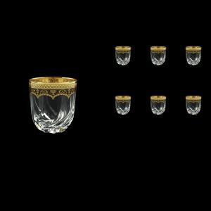 Trix B3 TEGB Whisky Glasses 290ml 6pcs in Flora´s Empire Golden Black Decor (26-565)