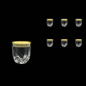 Trix B3 TMGB Whisky Glasses 290ml 6pcs in Lilit Golden Black Decor (31-811)