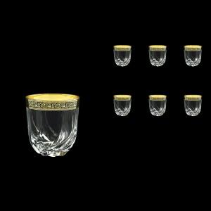 Trix B2 TMGB Whisky Glasses 400ml 6pcs in Lilit Golden Black Decor (31-812)