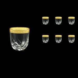 Trix B2 TNGC Whisky Glasses 400ml 6pcs in Romance Golden Classic Decor (33-812)