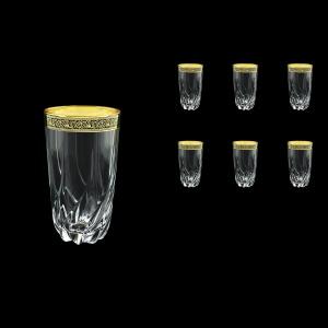 Trix B0 TMGB Water Glasses 470ml 6pcs in Lilit Golden Black Decor (31-813)