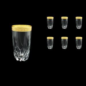Trix B0 TNGC Water Glasses 470ml 6pcs in Romance Golden Classic Decor (33-813)