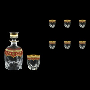Trix Set WD+B3 TEGR Whisky Set 800ml+6x290ml in Flora´s Empire Gold. Red D. (22-569/565)