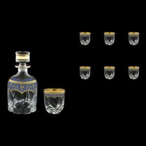 Trix Set WD+B3 TEGC Whisky Set 800ml+6x290ml in Flora´s Empire Gold. Blue D. (23-569/565)