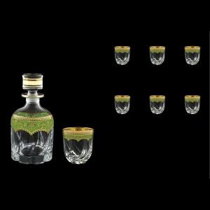 Trix Set WD+B3 TEGG Whisky Set 800ml+6x290ml in Flora´s Empire Gold. Green D. (24-569/565)