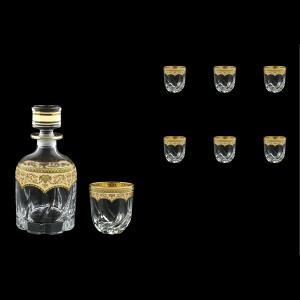 Trix Set WD+B3 TEGI Whisky Set 800ml+6x290ml in Flora´s Empire Gold. Ivory D. (25-569/565)