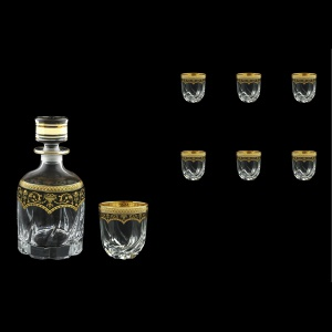 Trix Set WD+B3 TEGB Whisky Set 800ml+6x290ml in Flora´s Empire Gold. Black D. (26-569/565)