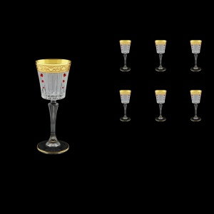 Timeless C5 TNGC SKLI Liqueur Glasses 110ml 6pcs in Romance Gold. C. D.+SKLI (33-112/bKLI)