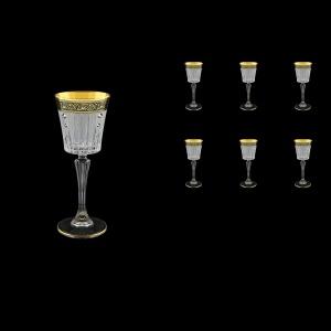 Timeless C5 TMGB SKCR Liqueur Glasses 110ml 6pcs in Lilit Gold. Black D+SKCR (31-112/bKCR)