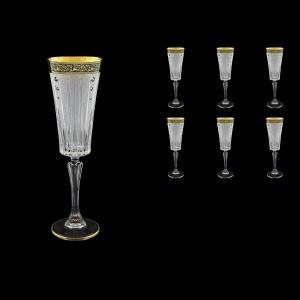 Timeless CFL TMGB SKCR Champagne Fluetes 210ml 6pcs in Lilit Gol. Black+SKCR (31-131/bKCR)