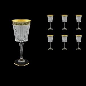 Timeless C2 TMGB SKCR Wine Glasses 298ml 6pcs in Lilit Golden Black+SKCR (31-130/bKCR)