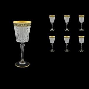 Timeless C3 TMGB SKCR Wine Glasses 227ml 6pcs in Lilit Gold. Black D.+SKCR (31-129/bKCR)