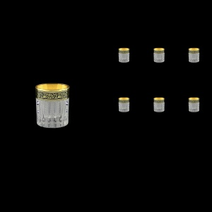 Timeless B5 TMGB SKCR Liqueur Tumblers 78ml 6pcs in Lilit Gold. Black D+SKCR (31-111/bKCR)