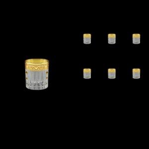 Timeless B5 TNGC SKTO Liqueur Tumblers 78ml 6pcs in Romance Gold. Cl. D+SKTO (33-111/bKTO)