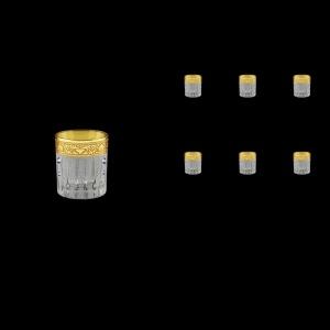 Timeless B5 TNGC SKCR Liqueur Tumblers 78ml 6pcs in Romance Gold. Cl. D+SKCR (33-111/bKCR)
