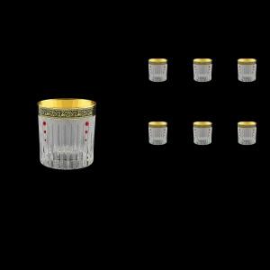 Timeless B3 TMGB SKLI Whisky Glasses 313ml 6pcs in Lilit Gold. Black D.+SKLI (31-110/bKLI)