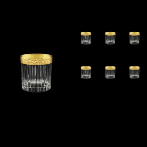Timeless B3 TNGC Whisky Glasses 313ml 6pcs in Romance Golden Classic Decor (33-279)