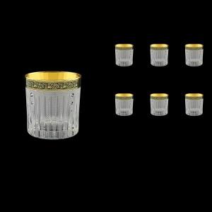 Timeless B2 TMGB SKCR Whisky Glasses 360ml 6pcs in Lilit Gold. Black D.+SKCR (31-132/bKCR)