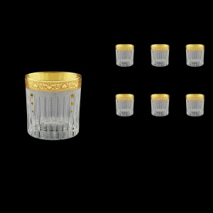 Timeless B2 TNGC SKTO Whisky Glasses 360ml 6pcs in Romance Gold. Cl. D.+SKTO (33-132/bKTO)