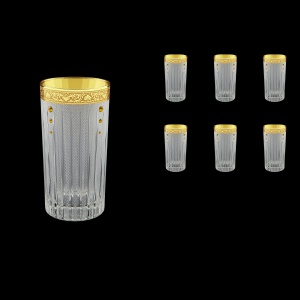 Timeless B0 TNGC SKTO Water Glasses 440ml 6pcs in Romance Gold. CL. D.+SKTO (33-133/bKTO)
