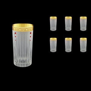 Timeless B0 TNGC SKLI Water Glasses 440ml 6pcs in Romance Gold. CL. D.+SKLI (33-133/bKLI)