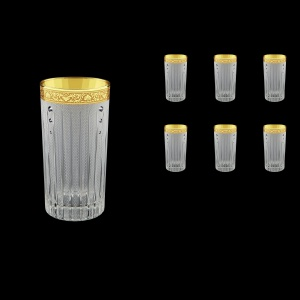 Timeless B0 TNGC SKCR Water Glasses 440ml 6pcs in Romance Gold. CL. D.+SKCR (33-133/bKCR)