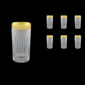 Timeless B0 TNGC S Water Glasses 440ml 6pcs in Romance Gold. CL. D.+S (33-133)