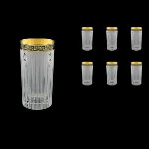 Timeless B0 TMGB SKCR Water Glasses 440ml 6pcs in Lilit Gold. Black D.+SKCR (31-133/bKCR)