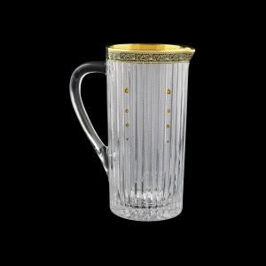 Timeless J TMGB SKTO Brocca Jug 1200ml 1pc in Lilit Golden Black Decor+SKTO (31-114/bKTO)