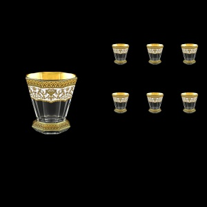 Stella B2 SEGW Whisky Glasses 310ml 6pcs in Flora´s Empire Golden White Decor (21-806)