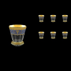 Stella B2 SEGC Whisky Glasses 310ml 6pcs in Flora´s Empire Golden Blue Decor (23-806)