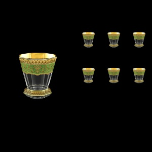 Stella B2 SEGG Whisky Glasses 310ml 6pcs in Flora´s Empire Golden Green Decor (24-806)