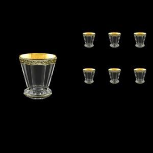 Stella B2 SMGB Whisky Glasses 310ml 6pcs in Lilit Golden Black Decor (31-803)
