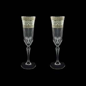 Adagio CFL AASK Champagne Flutes 180ml 2pcs in Allegro Platinum Light Decor (65-1/645/2/L)