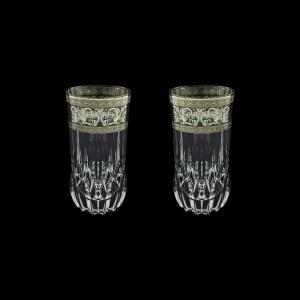 Adagio B0 AASK Water Glasses 400ml 2pcs in Allegro Platinum Light Decor (65-1/647/2/L)