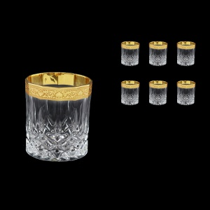 Opera B2 ONGC Whisky Glasses 300ml 6pcs in Romance Golden Classic Decor (33-236)