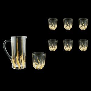 Trix Set J+B3 TTG Jug 1200ml+6x290ml 1+6 pcs in Gold (1267/1264)