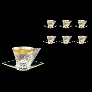 Fusion CA FPGW Cup Cappuccino 190ml 6pcs in Persa Golden White Decor (71-245/6)
