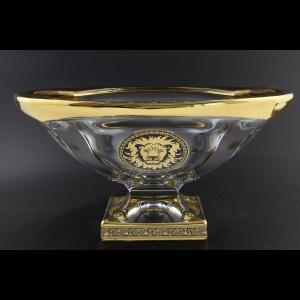 Bohemia Magma MV MOGB CH Bowl d34cm 1pc in Lilit&Leo Golden Black Decor (41-207)
