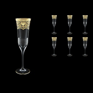Fiesole CFL FELK Champagne Flutes 170ml 6pcs in Flora´s Empire G. Crystal L. (20-823/L)