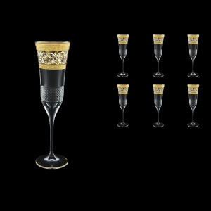 Fiesole CFL FALK Champagne Flutes 170ml 6pcs in Allegro Golden Light Decor (65-832/L)