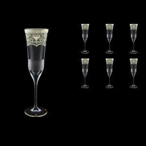 Fiesole CFL FESK Champagne Flutes 170ml 6pcs in Flora´s Empire P. Crystal L. (20-1/823/L)